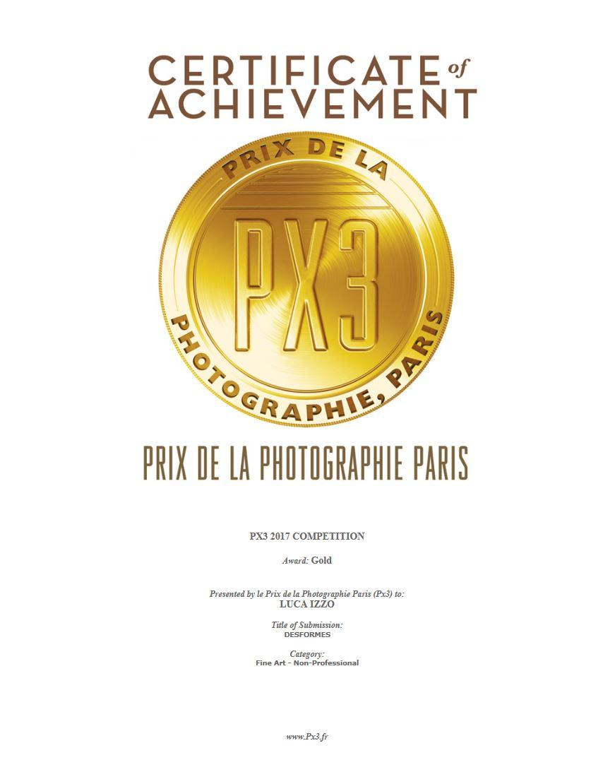 px3 certificate gold 2017